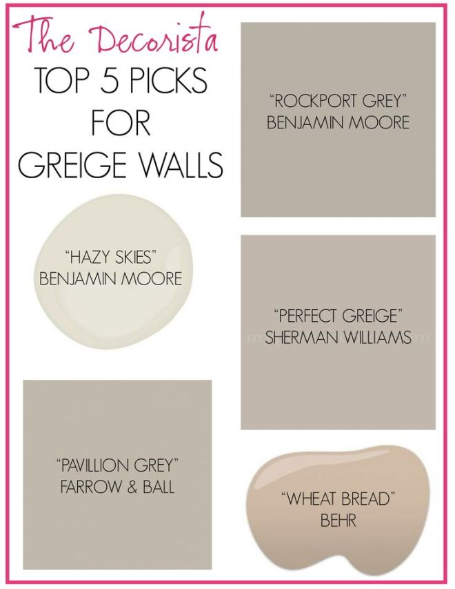 Greige living x design for Best grey beige paint color